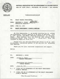 NAACP Memorandum, June 14, 1991