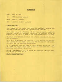 NAACP Memorandum, June 18, 1991