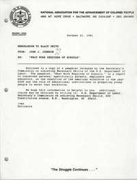NAACP Memorandum, October 21, 1991