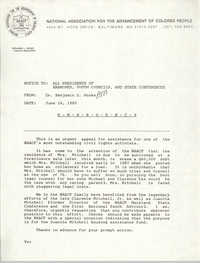 NAACP Memorandum, June 16, 1989