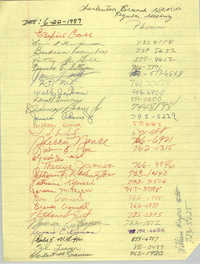 Sign-in Sheet, Charleston Branch of the NAACP, Regular Meeting, June 22, 1989