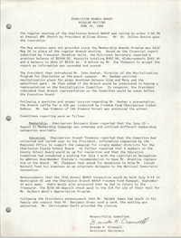 Minutes, Regular Meeting, Charleston Branch of the NAACP, June 30, 1988