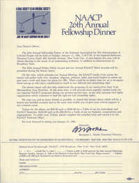 Invitation to the NAACP 26th Annual Fellowship Dinner, January 11, 1981