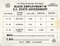 Black Employment in S.C. State Government Flyer