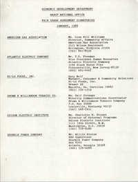 Economic Development Department NAACP National Office Fair Share Agreement Signatories, January 1988