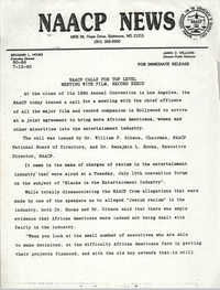 NAACP News Statement, July 12, 1990