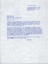 Letter from Bernice Robinson to Maxwell Hahn, June 25, 1973
