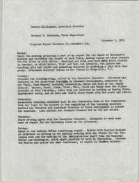 VISTA Progress Report, November 30-December 4, 1970
