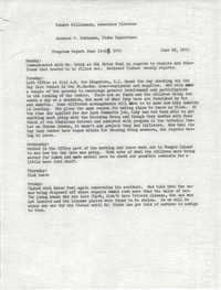 VISTA Progress Report, June 15-19, 1970