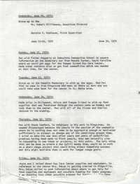 VISTA Progress Report, June 22-26, 1970