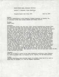 VISTA Progress Report, June 8-12, 1970