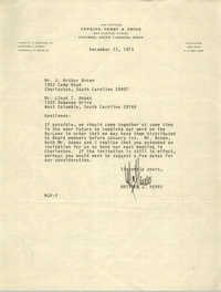 Letter from Matthew J. Perry to J. Arthur Brown and Lloyd T. Adams, December 13, 1973