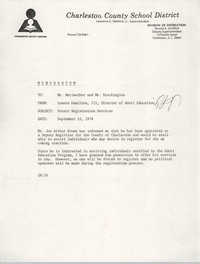 Charleston County School District Memorandum, September 15, 1978