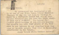 Postcard from James Island White Citizens Council to J. Arthur Brown, September 27, 1965