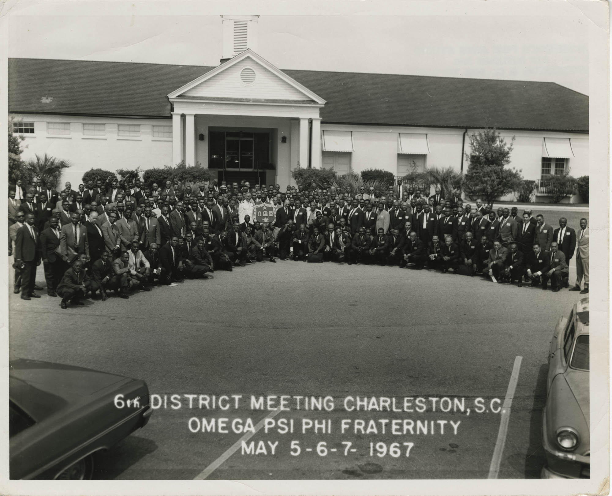 Photograph of the 6th District Meeting of the Omega Psi Phi Fraternity