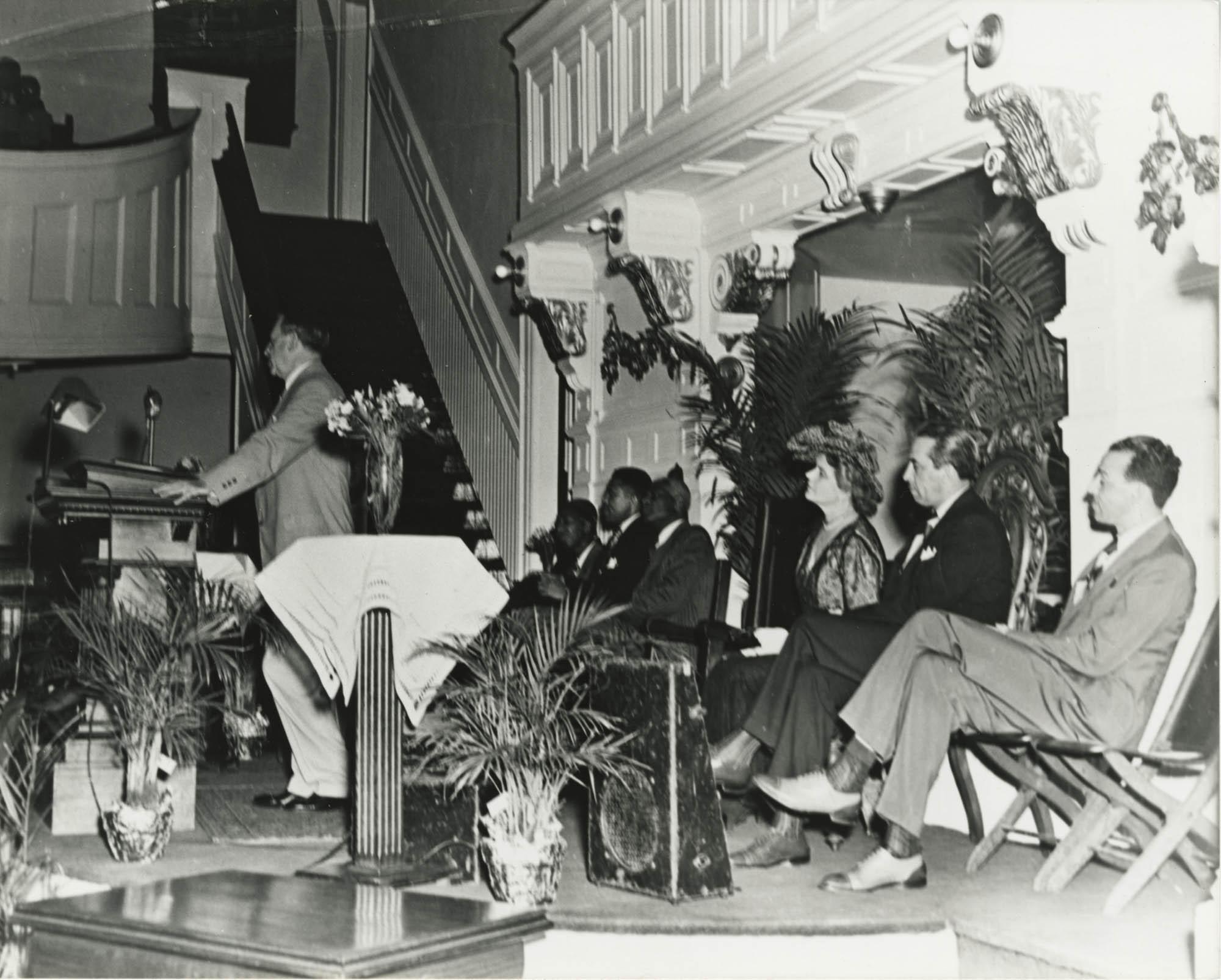 Photograph of J. Waties Waring Speaking