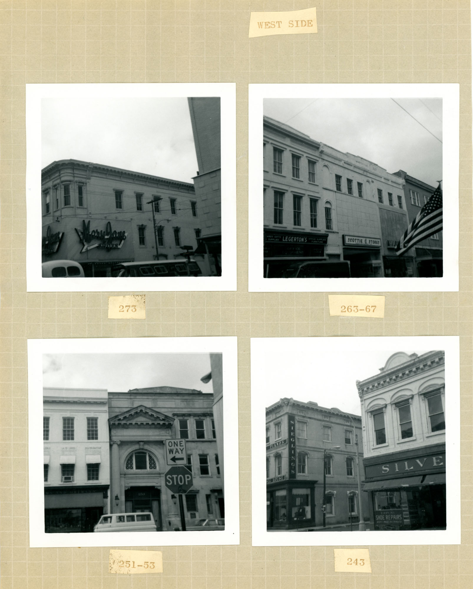 King Street Survey Photo Album, Page 6 (back): 243-273 King Street