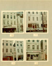 King Street Survey Photo Album, Page 5 (front): 229-235 King Street