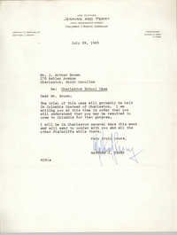 Letter from Matthew J. Perry to J. Arthur Brown, July 29, 1963