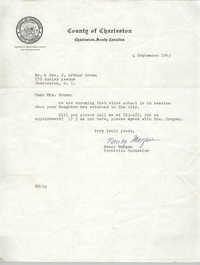 Letter from Nancy Morgan to Mr. and Mrs. J. Arthur Brown, September 4, 1963