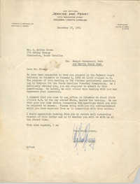 Letter from Matthew J. Perry to J. Arthur Brown, December 28, 1961
