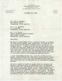 Letter from Matthew J. Perry to John E. Brunson, H. E. Caldwell, and J. E. Sulton, November 24, 1964