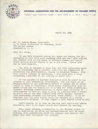 NAACP Memorandum, March 20, 1964