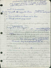 Essay by Esau Jenkins regarding his work, probably for education class