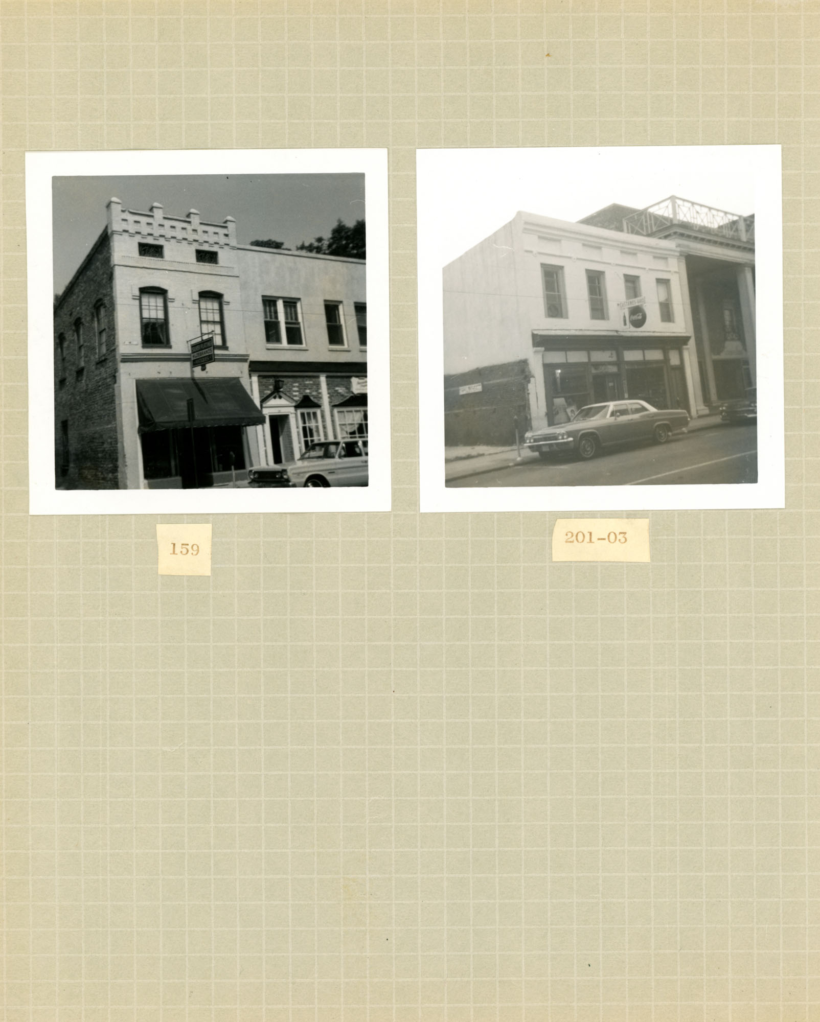 King Street Survey Photo Album, Page 1: 159-161 King Street / 201-203 King Street