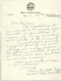 Letter from Louis M. Hill to J. Arthur Brown, May 28, 1980