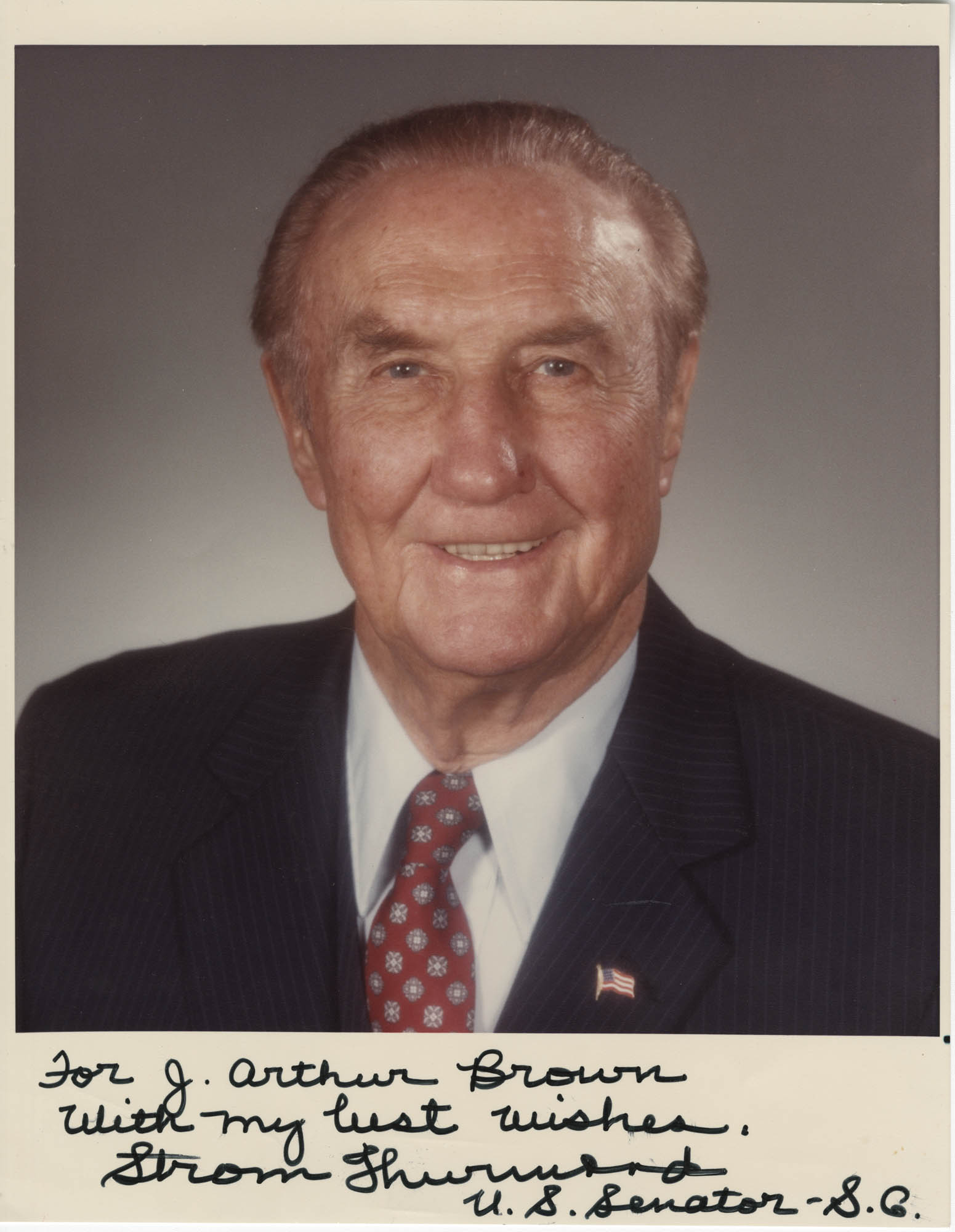 Photograph of Strom Thurmond