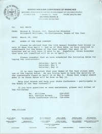 South Carolina Conference of Branches of the NAACP Memorandum, March 28, 1990