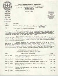 South Carolina Conference of Branches of the NAACP Announcement, June 28, 1988