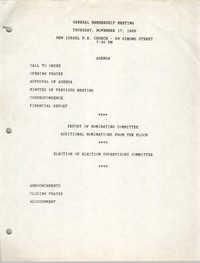 Agenda, Charleston Branch of the NAACP, November 17, 1988