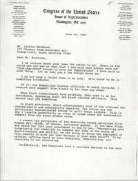 Letter from Arthur Ravenel, Jr. to Lachlan McIntosh, June 20, 1991