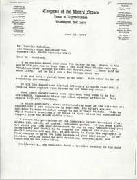 Letter from Arthur Ravenel, Jr. to Lachlan McIntosh, June 20, 1991