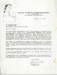Letter from Yvonne T. Orr to Dwight James, October 10, 1991
