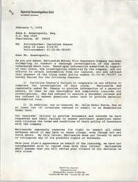 Letter from David A. Perry to Akim A. Anastopoulo, February 7, 1994
