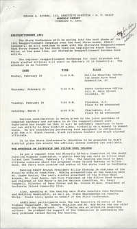 South Carolina Conference of Branches of the NAACP Monthly Report, February 9, 1991