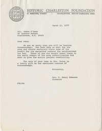 Letter from S. Henry Edmunds to Mrs. James O'Hear (Edna)