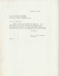 Letter from Mrs. S. Henry Edmunds to Ms. Susan Jones Connelly