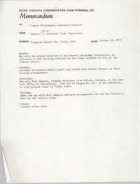 Memorandum from Bernice V. Robinson to Robert Williamson, October 26, 1970