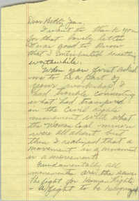 Draft of Letter from Bernice Robinson to Betty Jean Hall, 1985