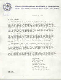 Letter from Benjamin L. Hooks and C. DeLores Tucker, October 6, 1986