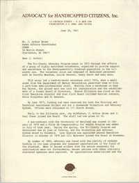 Letter from J. Paul Cheek to J. Arthur Brown, June 29, 1981