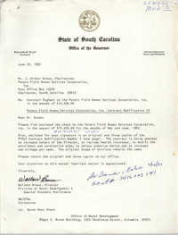 Letter from Wallace Brown to J. Arthur Brown, June 24, 1982