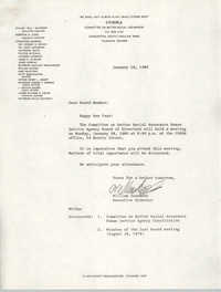 Letter from William Saunders to COBRA Board Members, January 18, 1980