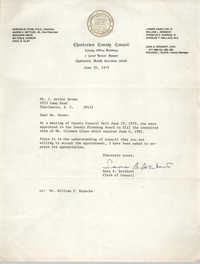 Letter from Sara B. Breibart to J. Arthur Brown, June 20, 1979