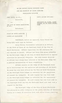 Civil Action No. 79-1042 Affidavit of Clerk, Charleston Division, Earl Davis, Jr. vs. The City of North Charleston