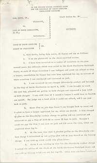 Civil Action No. 79-1042 Affidavit of Earl Davis, Charleston Division, Earl Davis, Jr. vs. The City of North Charleston